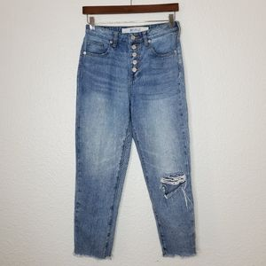 Brandy Melville High Waisted Button Fly Jeans